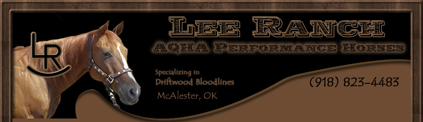 Lee Ranch AQHA Performance Horses Logo